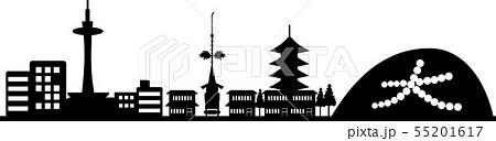 京都シルエット(透過仕様) 55201617