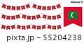 モルディブの国旗のガーラーンド ベクターデータ(bunting garland) 55204238