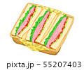 ハムのサンドイッチ 55207403