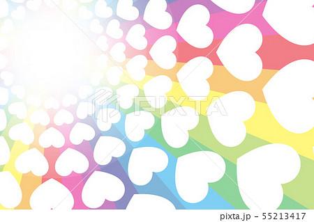 カラフルベクターイラスト背景壁紙素材,虹色,レインボーカラー,ハートマーク,エンターテインメント, 55213417
