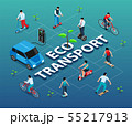 Eco Transport Isometric Flowchart 55217913