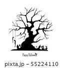 素材-パーツ-ハロウィン-木-シルエット 55224110