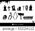 素材-パーツ-ハロウィン-墓石-ゾンビ-シルエット 55224112