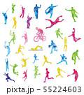 スポーツ_シルエット 55224603