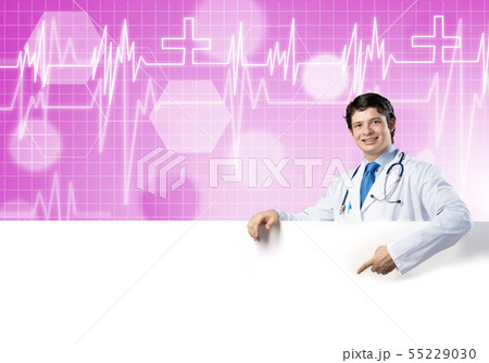 Doctor with banner 55229030