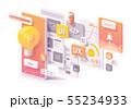 Vector mobile app development concept 55234933