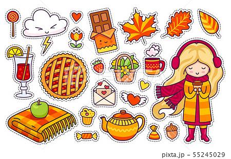 Beautiful blonde girl, plaid, berry pie. 55245029