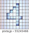 Cube grid Number 4 FOUR 3D 55245466