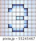 Cube grid Number 3 THREE 3D 55245467