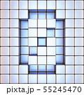 Cube grid Number 0 ZERO 3D 55245470