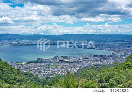 【比叡山ドライブウェイから見る琵琶湖】 滋賀県大津市山上町 55246826