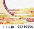 和風-背景素材-和紙の風合い-紅葉-雲-金箔 55249550