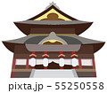 善光寺 観光地イラストアイコンシリーズ 55250558