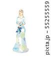ドレス、青と水色 55255559