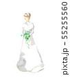 ドレス、純白 55255560