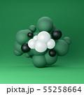Sphere cloud CG (green) 55258664
