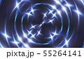 Abstract blue fractal lights, 3d render backdrop, computer generating background 55264141