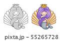 Princess mermaid. Cute cartoon character. 55265728
