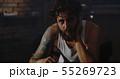 Depressed drug addict looking at camera 55269723