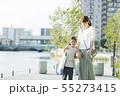 家族 子供 買い物の写真 55273415