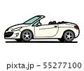 フレンチオープンカー  白色系 自動車イラスト 55277100