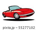 ブリティッシュライトウェイトオープンカー ジャンプ 赤色 自動車イラスト 55277102