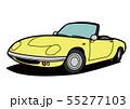 ブリティッシュライトウェイトオープンカー 黄色 自動車イラスト 55277103