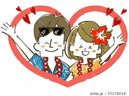 夫婦-カップル-ハート 55278018
