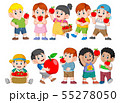 Collection of happy Kids with fresh apple 55278050