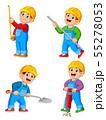 Construction Worker People cartoon character in va 55278053