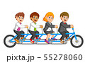 Business people Riding Tandem Bicycle 55278060