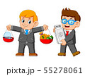 Two Businessman holding USB card 55278061