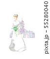 ウェディングドレスと教会 55280040