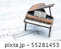 グランドピアノと楽譜  室内スタジオ撮影 55281453