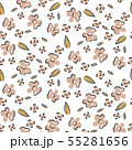 Floral seamless vector pattern. Hand drawn sketched flowers retro texture. 55281656