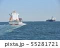 東京湾を行く貨物船 55281721