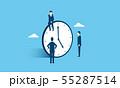 働き方改革のイメージ、ビジネスマンと時計 55287514