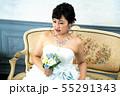 ウェディングドレスの花嫁 55291343