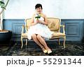 ウェディングドレスの花嫁 55291344