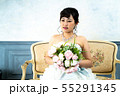 ウェディングドレスの花嫁 55291345
