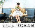 ウェディングドレスの花嫁 55291346