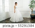 ウェディングドレスの花嫁 55291384