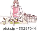 食器を洗う男性 55297044