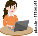 パソコン 女性 55300166