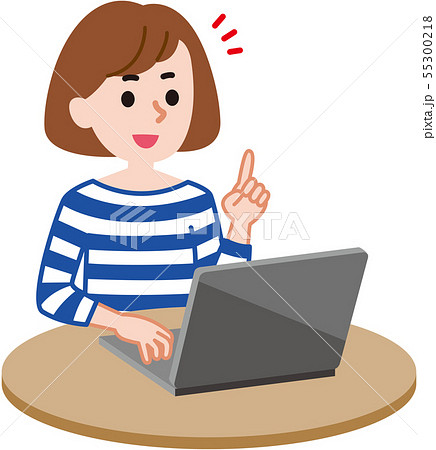 パソコン 女性 55300218