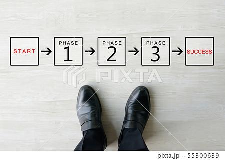 ビジネスイメージ―プロセス 55300639