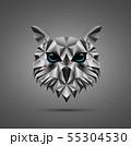 Owl bird low poly design 55304530