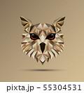 Owl bird low poly design 55304531