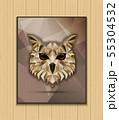 Owl bird low poly design 55304532
