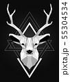 Polygonal low poly deer design 55304534